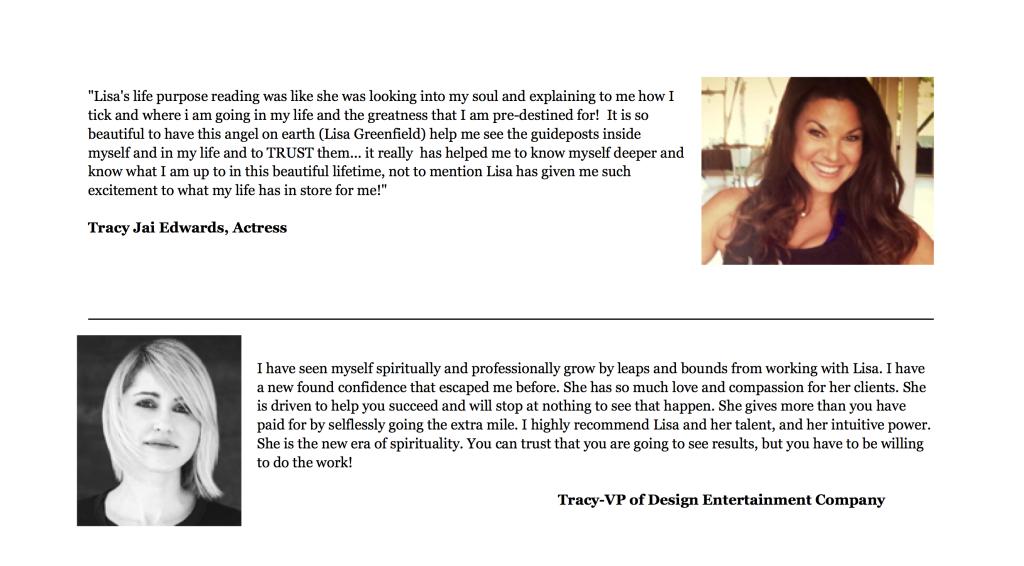 Two Tracy's Testimonial